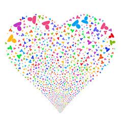 user fireworks heart vector image