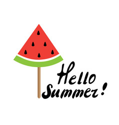 watermelon popsicle vector image vector image