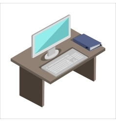 Workplace in Office vector