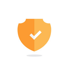 yellow shield icon design for security and safety vector image