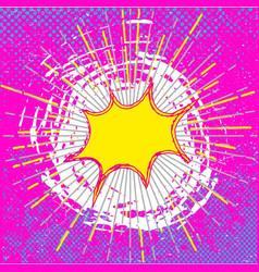 comic speech bubble background vector image vector image