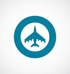 fighter icon bold blue circle border vector image
