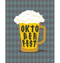 Oktoberfest Mug Beer typography Alcohol for vector image vector image