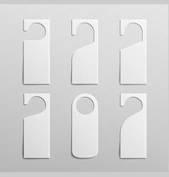 Paper plastic door handle lock hangers clean door vector