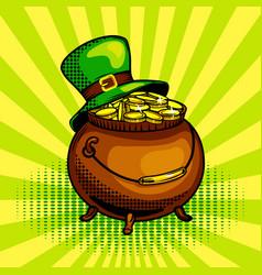 pot of gold pop art vector image vector image