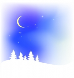 snow Christmas landscape vector image vector image