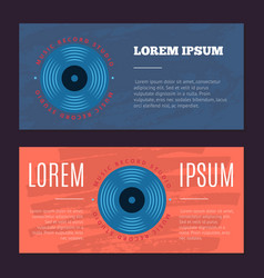 vintage flyers with sound record studio vector image