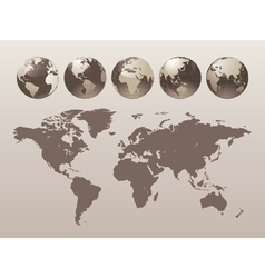 World Globe Map vector image