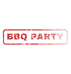 Bbq party rubber stamp vector
