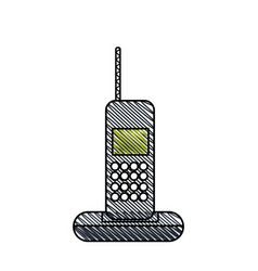 cordless phone technology call vector image