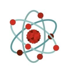 Multicolored atom icon vector