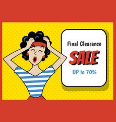 retro sale new vector image