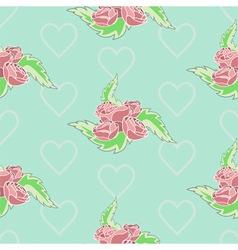 Roses pattern pastel vector