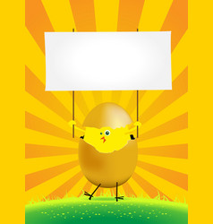 tiny easter chicken vector image