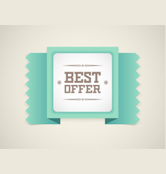 best offer vector image
