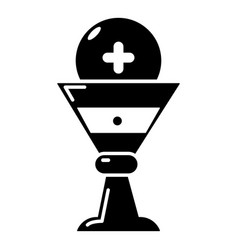 church goblet glyph icon simple style vector image