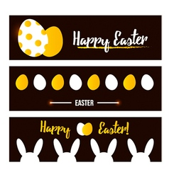 Happy Easter banner set collection vector image vector image