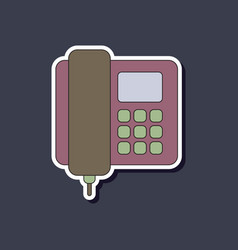 Paper sticker on background of office phone vector
