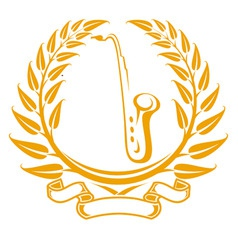 saxophone symbol vector image