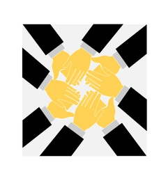 Teamwork clapping hands logo vector image vector image