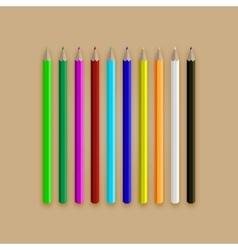 Varicolored long pencil set vector image vector image