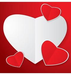 Four heart paper vector