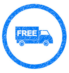 free shipment rounded grainy icon vector image vector image