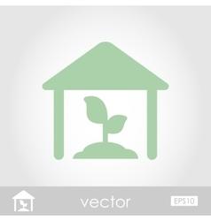 Greenhouse icon vector image