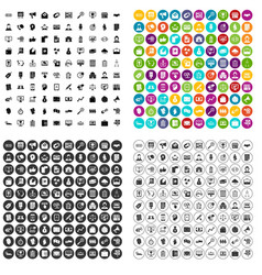 100 commerce department icons set variant vector