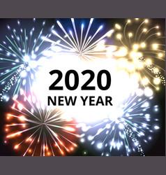 2020 fireworks vector image