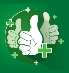 adding likes with thumbs up vector image