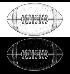 American football ball hand drawn sketch vector