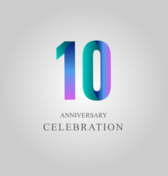 Anniversary purple design10 year vector