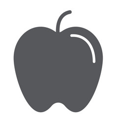 apple glyph icon food and vitamin fruit sign vector image