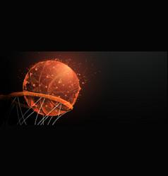 basketball going through basket vector image