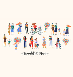 beautiful mum collection cute vector image