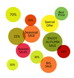 Big autumn sale badge label special offer vector