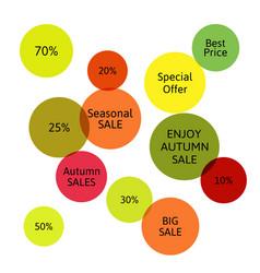 Big autumn sale badge label special offer vector
