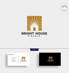 Bright light house finance business logo template vector