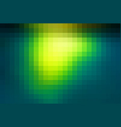 Bright yellow green mosaic square tiles background vector