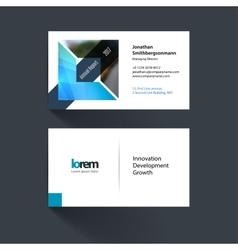 business card template with geometric shape vector image