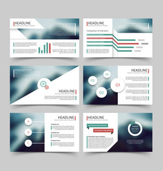 business presentation corporate marketing report vector image