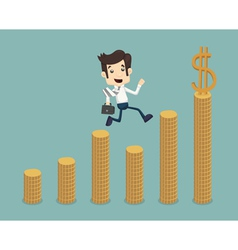 Businessman go to success vector