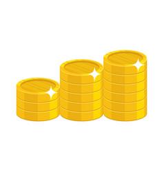 Cartoon gold coins vector