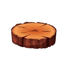 cartoon isometric tree trunk slice isolated on vector image