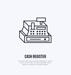 cash register flat line icons retail store vector image