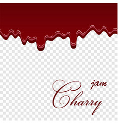 cherry dripping 3d seamless pattern cherry liquid vector image