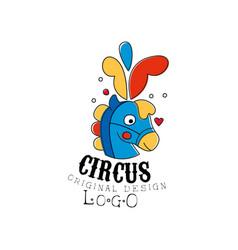 circus logo original design emblem for amusement vector image