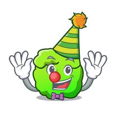 Clown shrub mascot cartoon style vector