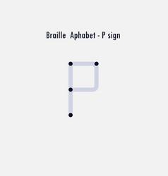 creative english version braille alphabet vector image